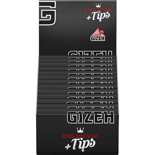 Gizeh Black King Size Slim & Tips