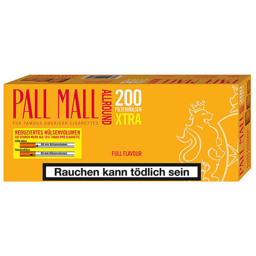 Pall Mall All. Rot Extra Hülsen