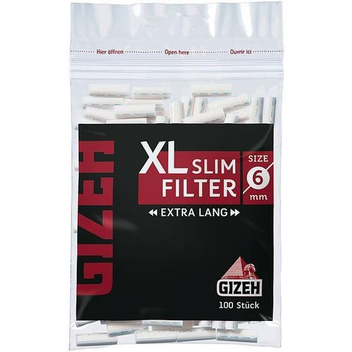 Gizeh Black XL Slim Filter 20St.