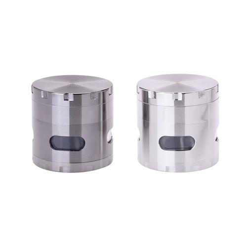 Grinder Metall With Window Silber