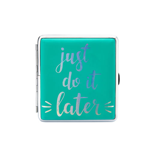 "Zigaretten-Etui Happy Mood ""Just do it later"""