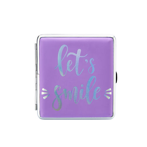 "Zigaretten-Etui Happy Mood ""Let´s smile"""